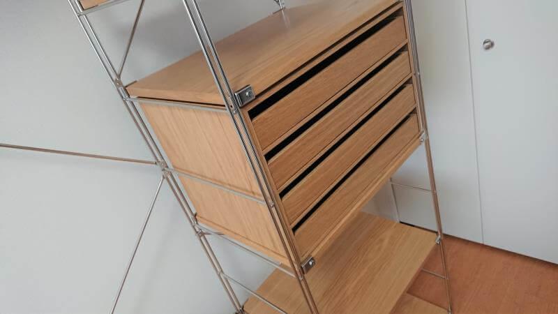 【幅58cm】連結おすすめ① 木製収納ケースがぴったり入る