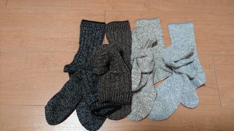 足なり直角靴下(ムラ糸) レディース カラーバリエーション