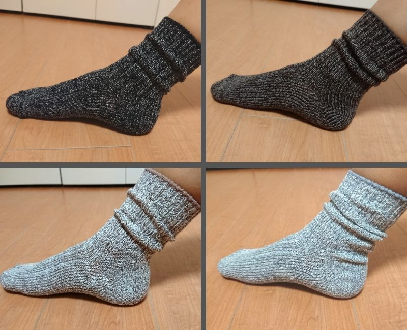 無印良品 足なり直角靴下(ムラ糸) レビュー